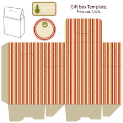 Gift box template.