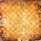 Gird on grunge orange background poster