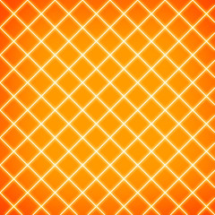 Gird on orange background