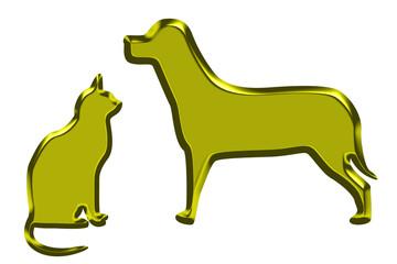 Cat   Dog gold
