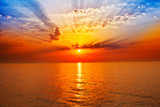 Fototapety sunrise in the sea