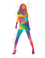 Colourful girl. Vector