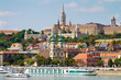 View of Buda side of Budapest with the Castle, St. Matthias and