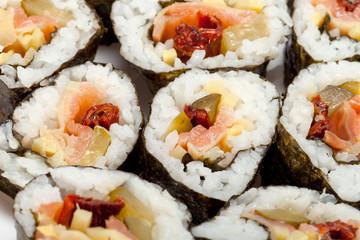 sushi isolated on white background