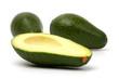 Avocado fruits isolated on white background.