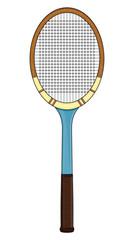 Retro tennis racket