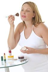 Grossesse - Séance de maquillage
