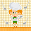 cheerful little cook