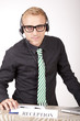 Young attractive male receptionist