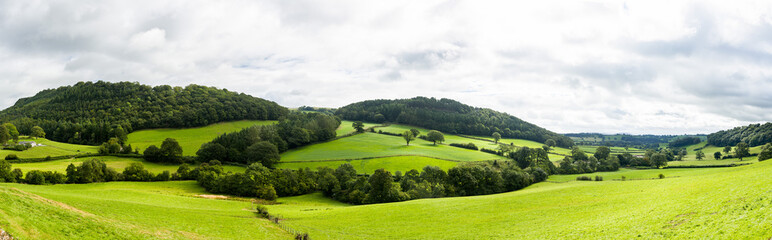 Panorama of welsh countryside