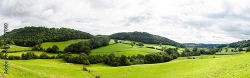 Fotobehang Noord Europa Panorama of welsh countryside