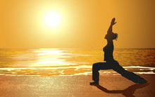 Yoga sur une plage