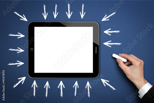 Tablet PC with Arrows
