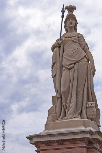 Warrior Goddess Athena statue