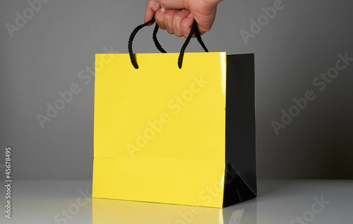 Shopping bag with empty space for text