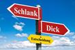 Schlank oder Dick