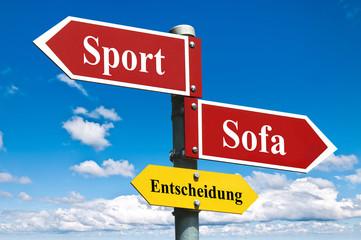 Sport oder Sofa