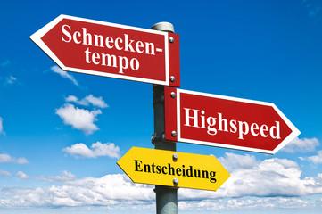 Schneckentempo vs Highspeed