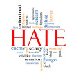 Hate Word Cloud Concept