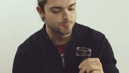 Man drinks soda