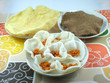 Three types of Indian Chips known as Papads