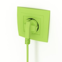 power connector and the socket in 3-d visualization