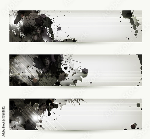 Abstract grunge artistic headers