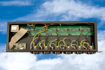 sezione di una multipresa elettrica