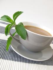 Milchkaffee mit Stevia