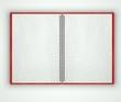Open blank notebook, paper texture