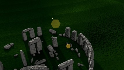 Artist recreation of Stonehenge ruin.