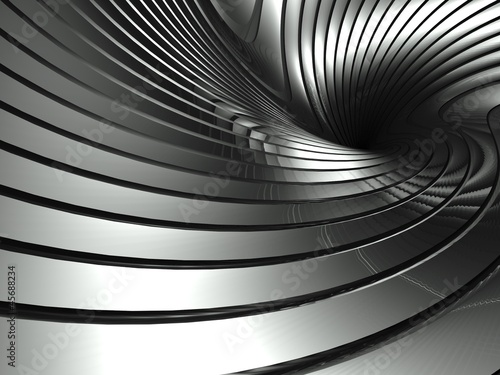 3d wavy aluminium background abstract silver swirl