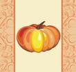 Thanksgiving Day. Vector pumpkin