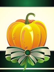 Thanksgiving Day. Vector pumpkin