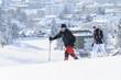 unterwegs im frischen Schnee