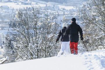 Laufen im frischen Schnee