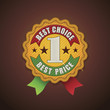 Vector best choice fabric badge