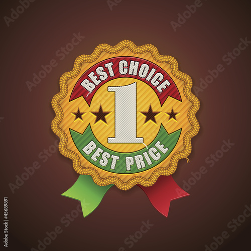 Vector best choice fabric badge