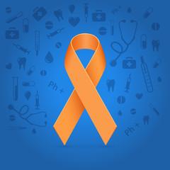 Orange glowing ribbon