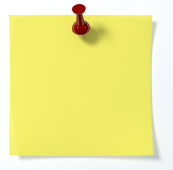 Single post it with push pin