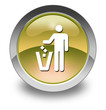 "Yellow Glossy Pictogram ""Litter Container"""