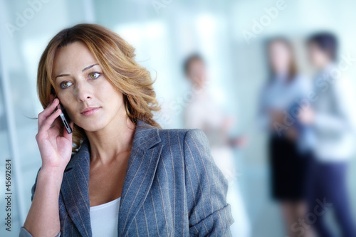 Woman calling
