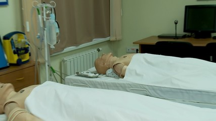 Medical simulation Center. Interactive mannequins.