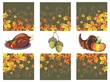 Thanksgiving banners arrangement with the pumpkin,acorn,apple