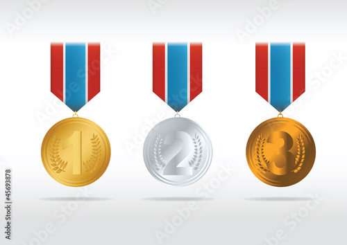 Set of medals. Vector