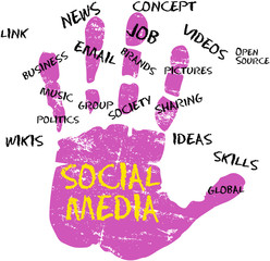 Social media and network icon