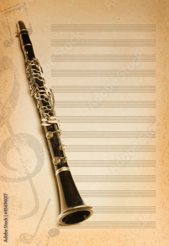 musical background with flute