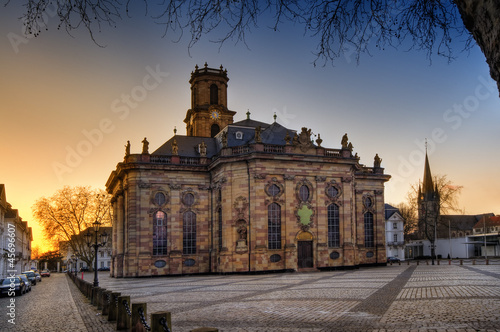 canvas print picture Ludwigskirche Saarbruecken