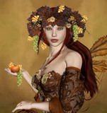 Autumn personification poster