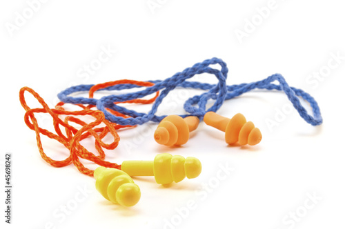 Two pairs of rubber earplugs